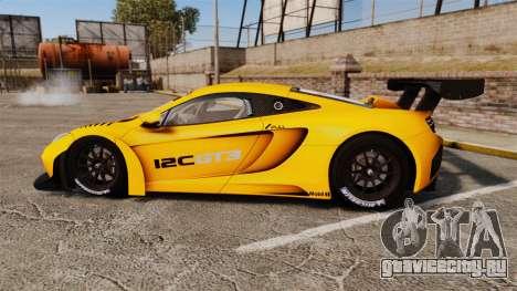 McLaren MP4-12C GT3 (Updated) для GTA 4 вид слева