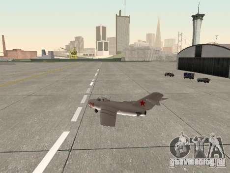 МиГ 15 Бис для GTA San Andreas вид справа