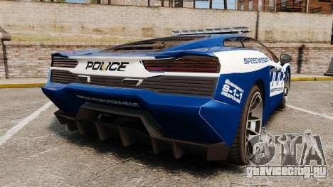 GTA V Pagassi Vacca Police для GTA 4 вид сзади слева