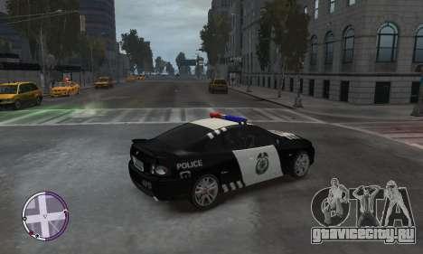 Holden Monaro CV8-R Police для GTA 4 вид сзади слева