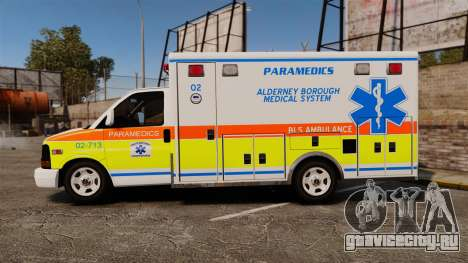 GMC Savana 2005 Ambulance [ELS] для GTA 4 вид слева