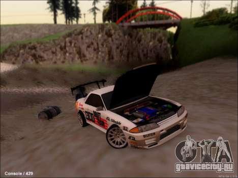 Nissan Skyline GTR R32 для GTA San Andreas вид сзади