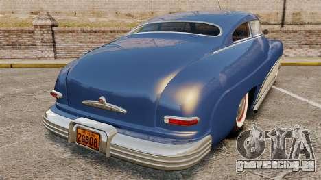 Mercury Lead Sled Custom 1949 для GTA 4 вид сзади слева
