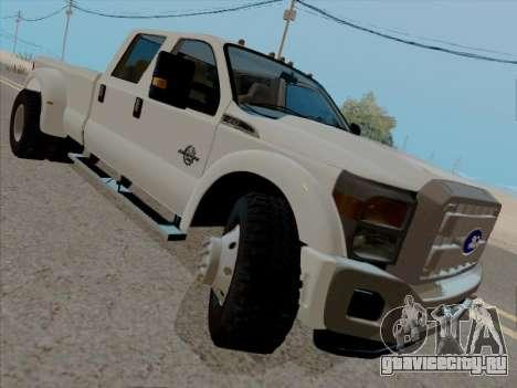 Ford F450 Super Duty 2013 для GTA San Andreas вид слева