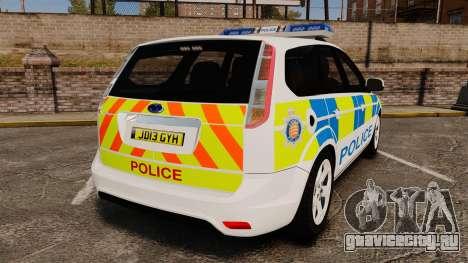 Ford Focus Estate Essex Police [ELS] для GTA 4 вид сзади слева