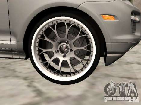 Porsche Cayenne Turbo S для GTA San Andreas вид справа