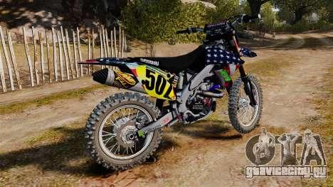 Kawasaki KX250F USA для GTA 4 вид слева