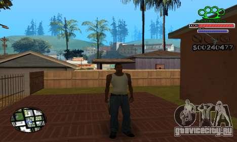 C-HUD Gangster by NickQuest для GTA San Andreas