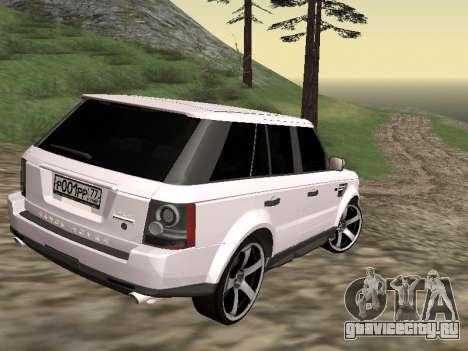 Range Rover Sport 2011 для GTA San Andreas вид сзади слева