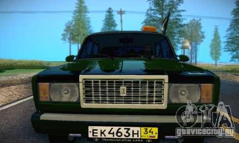 Ваз 2107 ВДВ для GTA San Andreas вид сбоку