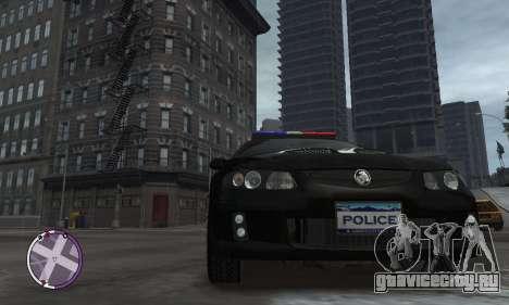 Holden Monaro CV8-R Police для GTA 4 вид сзади