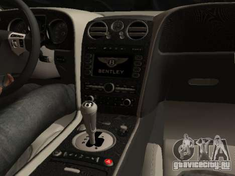 Bentley Continental Supersports для GTA San Andreas вид сзади