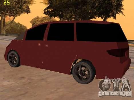 Toyota Estima 2wd для GTA San Andreas вид справа