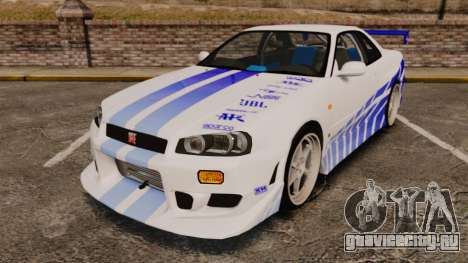 Nissan Skyline GT-R R34 V-Spec 1999 для GTA 4