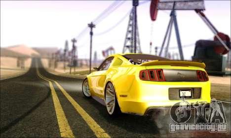 Ford Mustang GT 2013 v2 для GTA San Andreas вид сзади слева