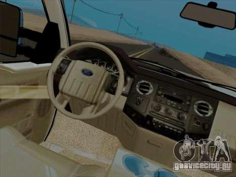 Ford F450 Super Duty 2013 для GTA San Andreas вид сзади