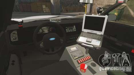Ford Crown Victoria Traffic Enforcement [ELS] для GTA 4 вид изнутри