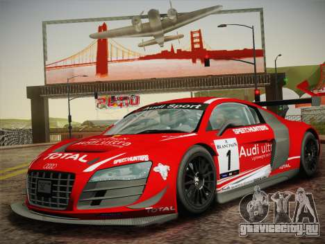 Audi R8 LMS Ultra W-Racing Team Vinyls для GTA San Andreas вид сзади