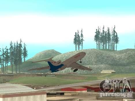 Ту-154 Б-2 ГТК Россия для GTA San Andreas вид сверху