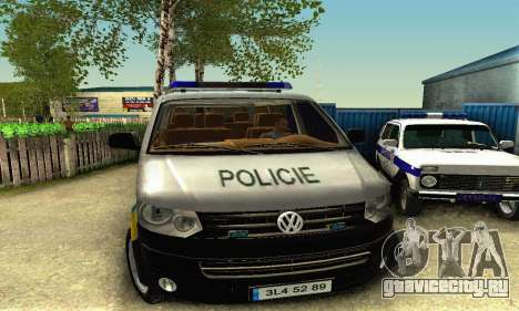 Volkswagen Transporter Policie для GTA San Andreas вид слева