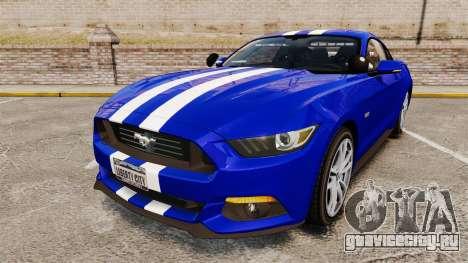 Ford Mustang GT 2015 Unmarked Police [ELS] для GTA 4