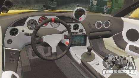 Toyota Supra 1994 (Mark IV) Slap Jack для GTA 4 вид сбоку