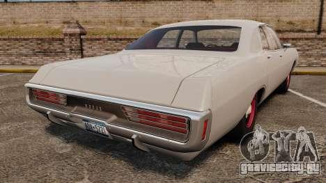 Dodge Polara 1971 для GTA 4 вид сзади слева