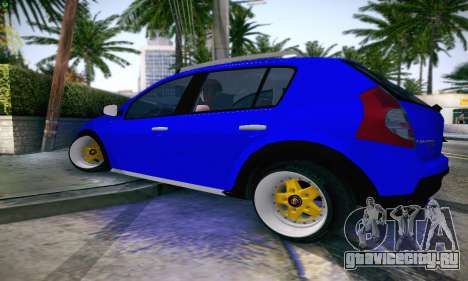 Dacia Sandero для GTA San Andreas вид слева