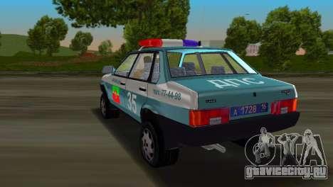ВАЗ 21099 Милиция для GTA Vice City вид слева