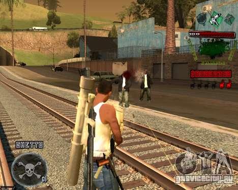 C-HUD Grove St для GTA San Andreas третий скриншот