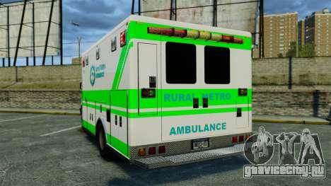Brute Rural Metro EMS [ELS] для GTA 4 вид сзади слева
