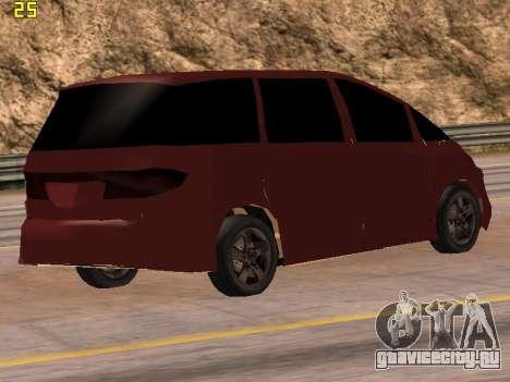 Toyota Estima 2wd для GTA San Andreas вид слева