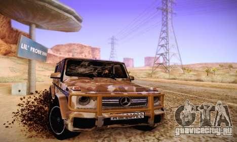 Mercedes Benz G65 Army Style для GTA San Andreas вид сзади