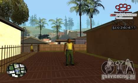 C-HUD Gangster by NickQuest для GTA San Andreas четвёртый скриншот