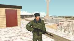Военный в зимней униформе