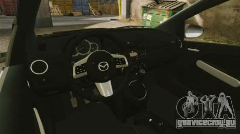 Mazda 2 Pizza Delivery 2011 для GTA 4 вид изнутри
