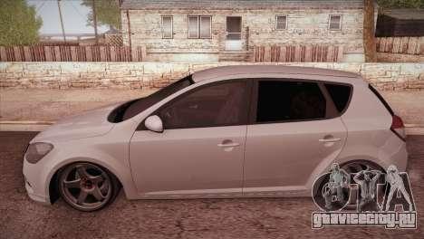 Kia Ceed 2011 SA Plates для GTA San Andreas вид слева