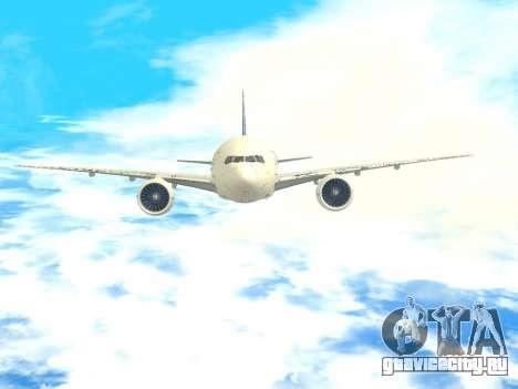 Boeing 777 LAN Cargo для GTA San Andreas вид сверху