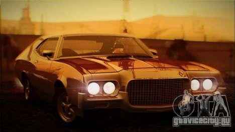 Ford Gran Torino 1972 Года для GTA San Andreas вид изнутри