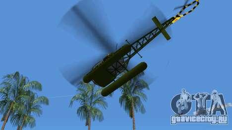 Bell 13H Sioux для GTA Vice City вид сзади