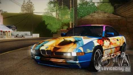 BMW M8 Custom для GTA San Andreas вид изнутри