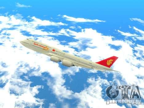 Boeing 747 Air China для GTA San Andreas вид слева