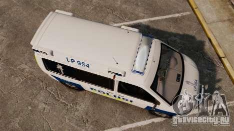 Volkswagen Transporter T5 TDI POLIISI [ELS] для GTA 4 вид справа