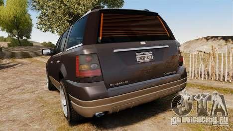 Dundreary Landstalker new wheels для GTA 4 вид сзади слева