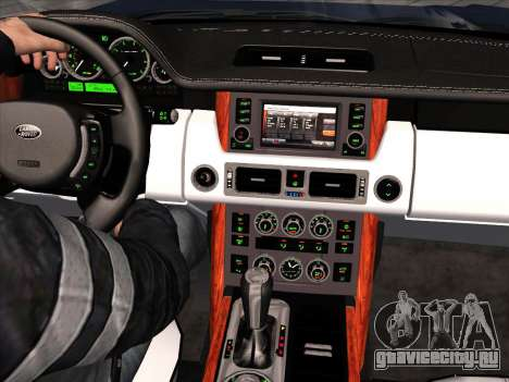 Land Rover Supercharged Stock 2010 V2.0 для GTA San Andreas вид изнутри
