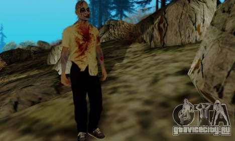 Зомби из GTA V для GTA San Andreas третий скриншот