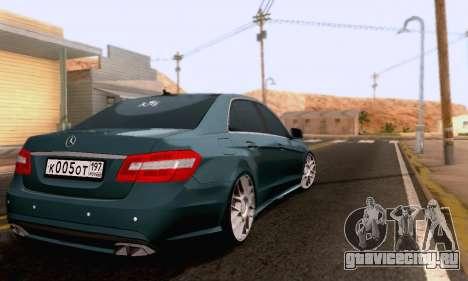 Mercedes-Benz E63 AMG для GTA San Andreas вид сбоку