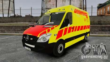 Mercedes-Benz Sprinter Finnish Ambulance [ELS] для GTA 4