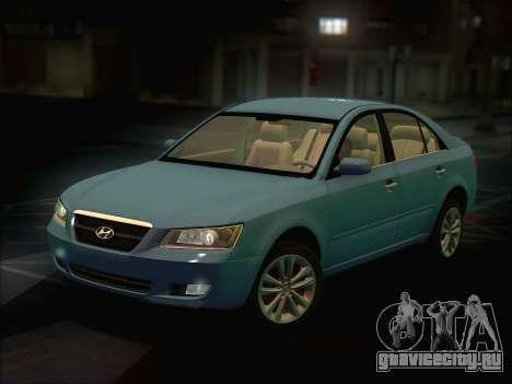 Hyundai Sonata 2009 для GTA San Andreas вид сзади слева