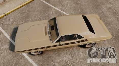 Dodge Challenger RT 1972 для GTA 4 вид справа